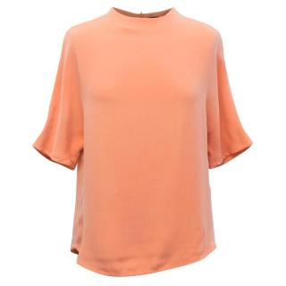 Joseph Orange Silk Blouse