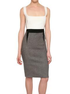 Antonio Berardi Harris Tweed Panelled Wool Dress