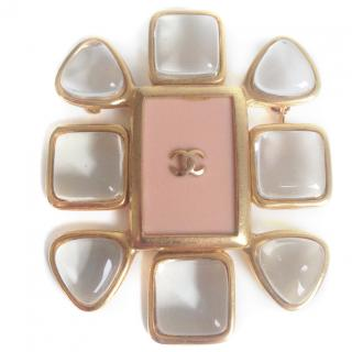 Chanel vintage gold plated brooch