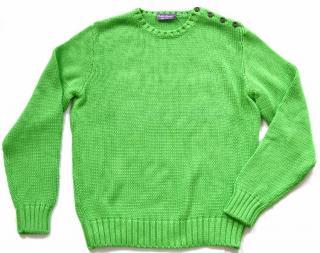 Ralph Lauren Purple Label green cotton jumper