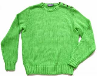 Ralph Lauren Purple Label green cotton jumper