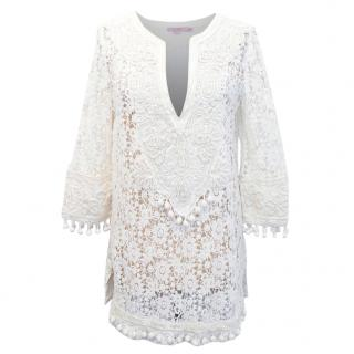 Calypso Lace Embellished Beach Cover Up
