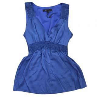 BCBG Maxazria silk blue top