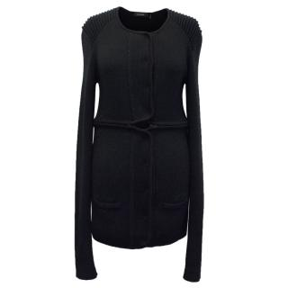Isabel Marant Black Long Line Knit Cardigan