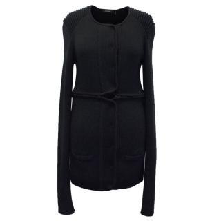 Isabel Marant Black Long Line Knit Cardigan