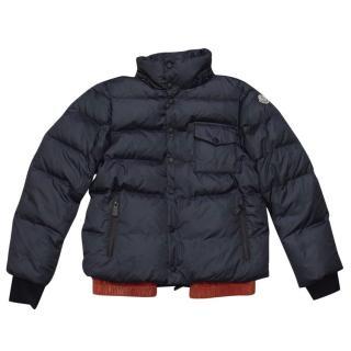 Moncler Kids Navy Down Coat