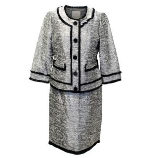 Kate Spade Metallic Silver Skirt Suit