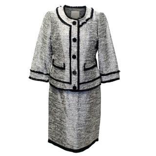 Kate Spade Metallic Silver Skirt Suit
