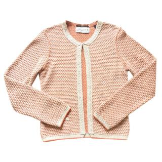 Maison Scotch tweed bicolor cardigan