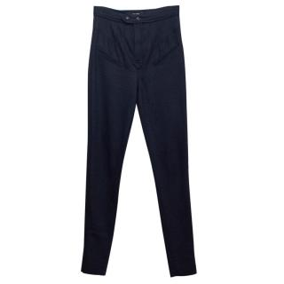Isabel Marant Navy Slim Fit Trousers