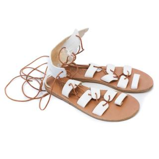 Ancient Greek Sandals 'Fteroti' White
