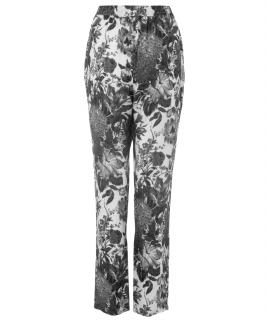 Stella McCartney printed flower silk pyjama style trousers