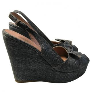 Alaia Denim Wedges