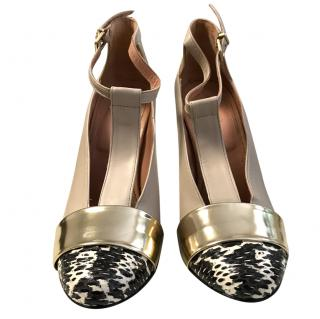 Robert Clergerie Python and Leather Shoes