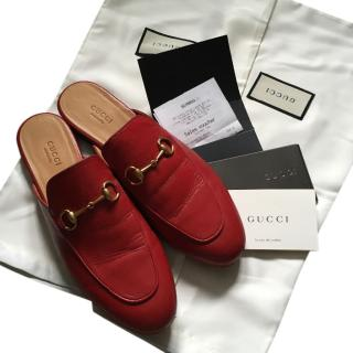 Gucci Horse Bit Leather Slippers