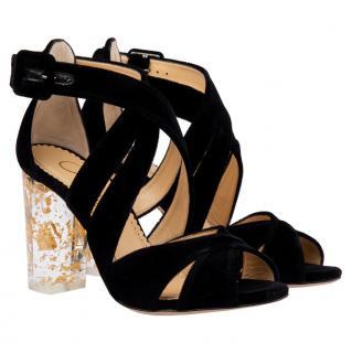 Charlotte Olympia fw16 velvet sandals