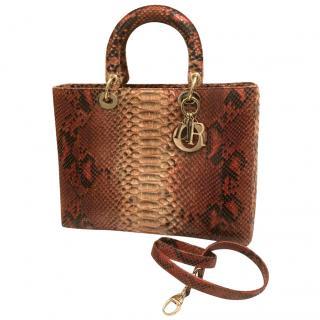 Lady Dior Python Bag