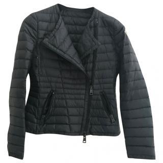 Moncler blue biker jacket