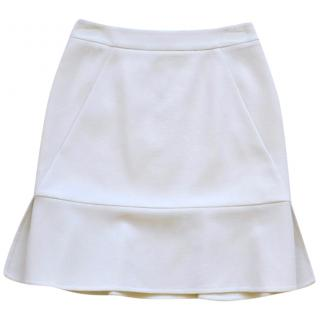 Emilio Pucci white wool skirt