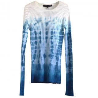 Ralph Lauren Black Label ribbed stretch-knit silk top