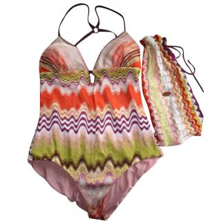 Missoni Mare Crochet Swimming Costume Swimsuit (uk 12/ eu44)