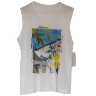 Zadig & Voltaire Printed Sleeveless T Shirt