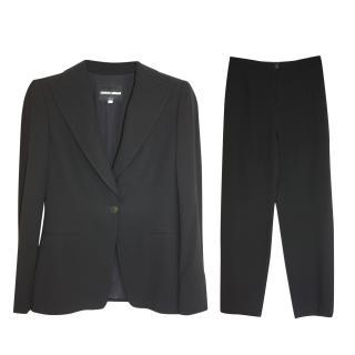 Giorgio Armani black Wool/silk blazer