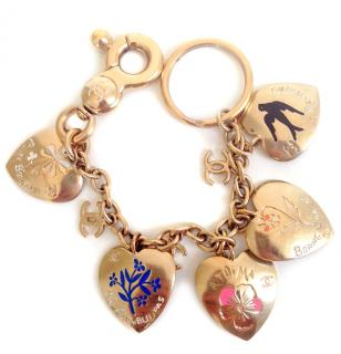 Chanel gold plated bracelet