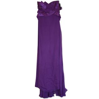 Versace Couture Purple Dress