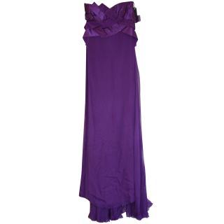 Versace Couture Purple Dress