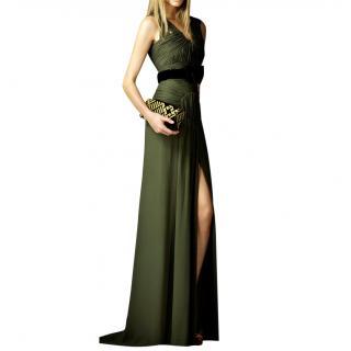 Burberry Prorsum Ruched Detail Silk Dress