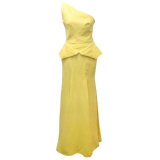 Roland Mouret One Shoulder Yellow Gown