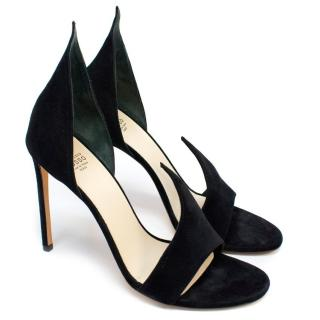 Francesco Russo Phard Black Suede Sandals