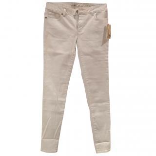Michael Michael Kors white skinny jeans
