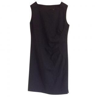 Boss Hugo Boss black sleeveless dress with applique detail