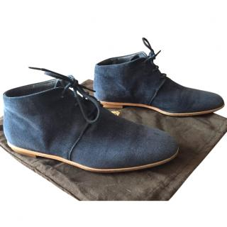 Tod's Blue suede Shoes