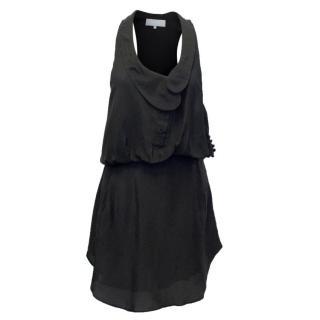 Alexander Wang Black Mini Dress with Plunging Neckline