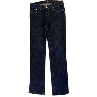 Versace Jeans Couture Dark Blue Jeans with Swarovski crystals