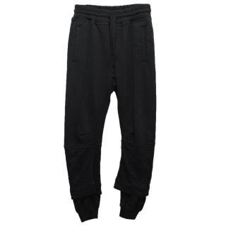 Haider Ackermann Black Sweatpants with Drawstring Waist