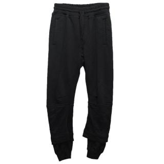 Haider Ackermann Black Sweatpants with Drawstring Waist