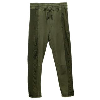 Haider Ackermann Khaki Sweatpants with Drawstring Waist
