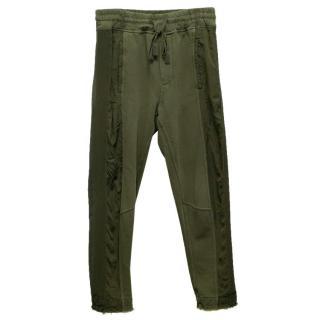 Haider Ackermann Khaki Sweatpants with Drawstring Waist