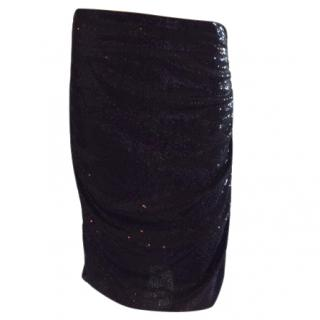 Giorgio Armani Black Sequin Skirt