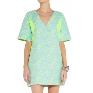 Richard Nicoll Colour-Block Brocade Mini Dress