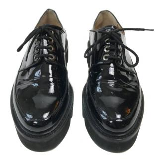 Walter Steiger Black Patent Lace Ups