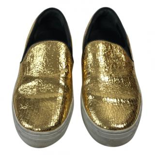 Celine Golden Trainers