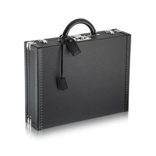 Louis Vuitton Taiga Black Leather President Ardoise Briefcase