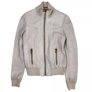 Dolce & Gabbana White Leather jacket