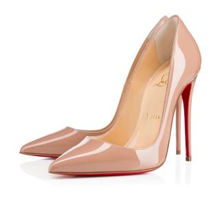 Christian Louboutin So Kate - Patent Nude Shoes
