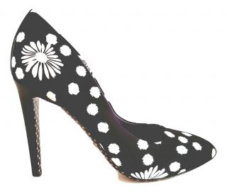 EMANUEL UNGARO High Heeled Polka Dot Pumps